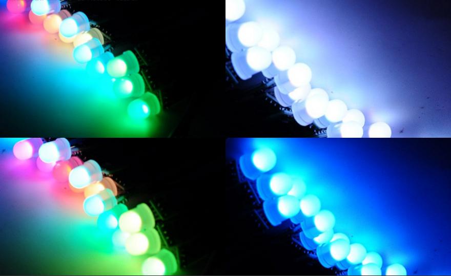 dc 5v ws2811 8mm rgb led pixels 50 nodes module string light led lights and controllers www. Black Bedroom Furniture Sets. Home Design Ideas